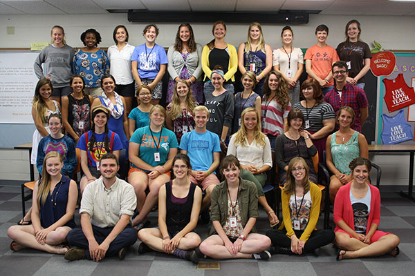 Group photo of Writing Assistants from 2014-2015