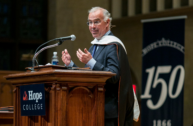 David Brooks speaks at Hope College