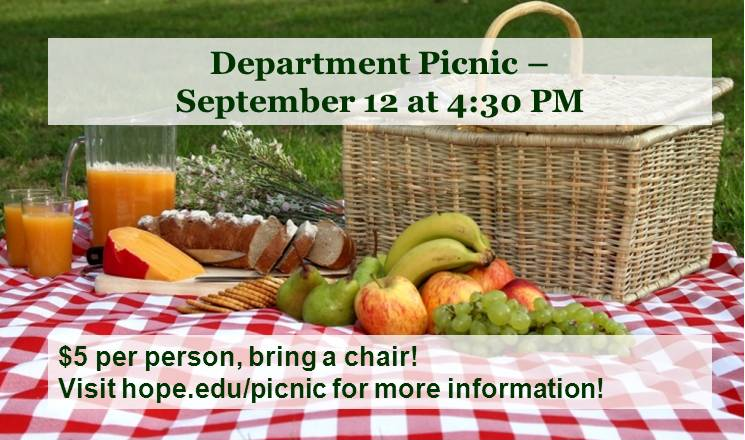 Example image of a picnic announcement slide that's brief and easy to read