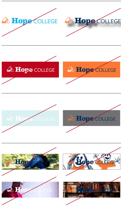 hope college logos not to use