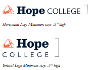 hope college logo size requirements