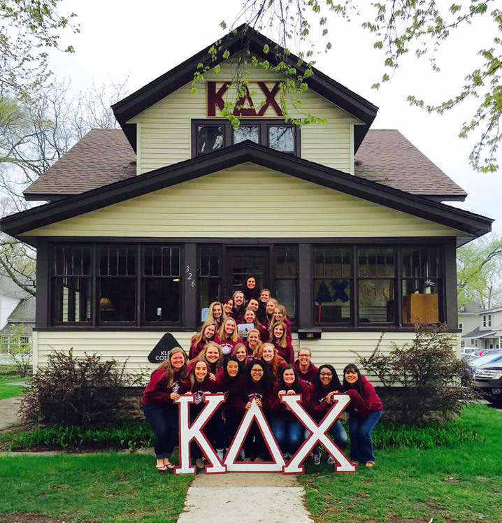 The women of the Kappa Delta Chi sorority