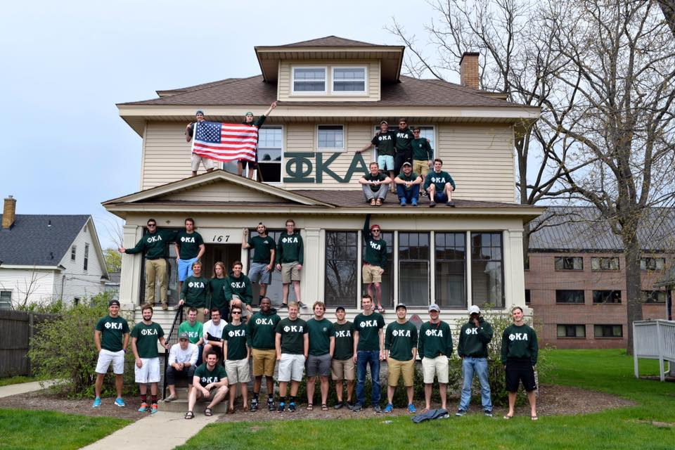 The men of the Phi Kappa Alpha fraternity
