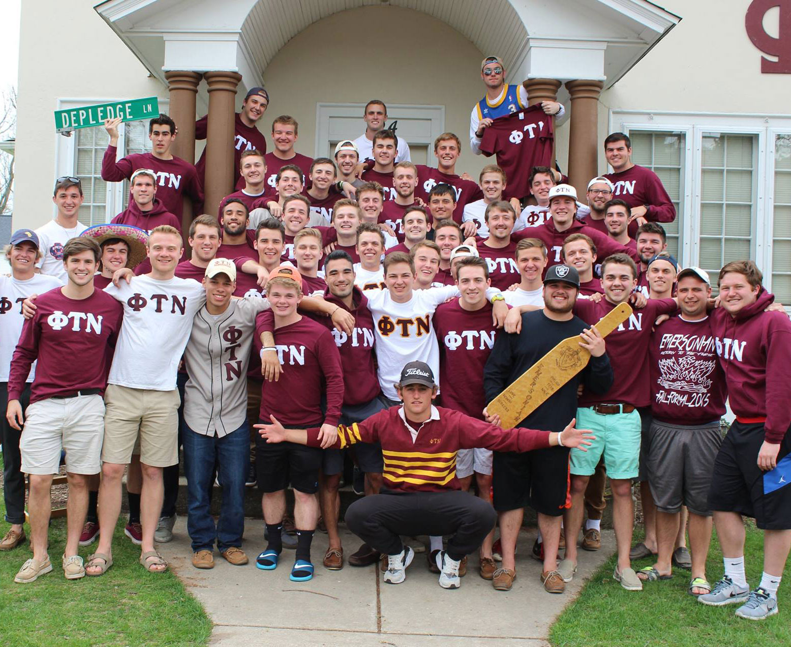 The men of the Phi Tau Nu fraternity